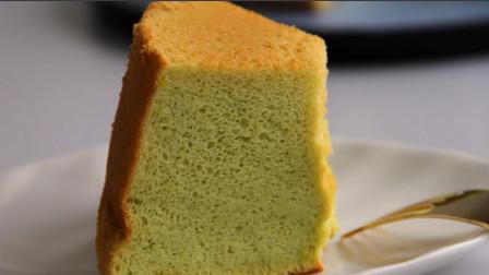 「烘焙教程」牛油果戚风蛋糕,软弹蛋糕秘制做法