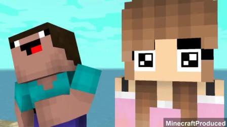 我的世界动画-菜鸟 vs 高手 vs 可爱女生-游泳池-MinecraftProduced