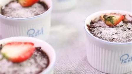 法式黑巧蛋糕,只需要一个微波炉,分分钟搞定!