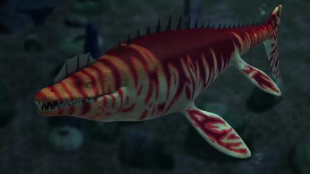 恐龙战争:巨齿鲨vs沧龙,现代鲨鱼与恐龙之战