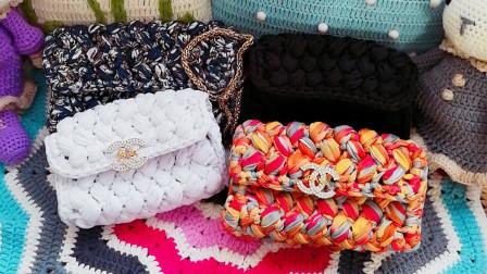 织一片慢生活--泫雅妈妈同款编织包包小香风斜挎包手工编织教程