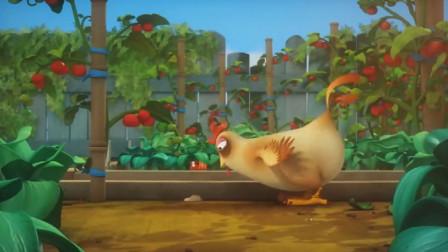 大公鸡最喜欢吃虫子了,尤其是小红!爆笑虫子游戏