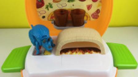 玩具乐园恐龙世界 恐龙世界三角龙烤披萨过家家