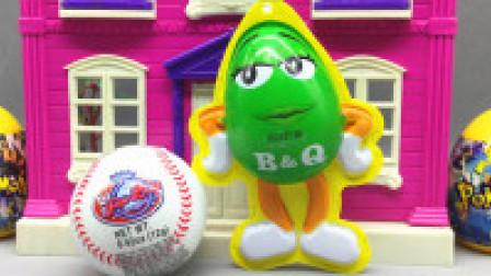 猪猪侠带来了好玩的棒球 卡通公仔神奇宝贝惊喜蛋