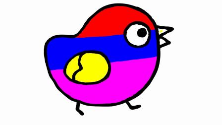 如何画一只小鸡 然后上彩色