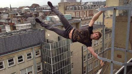 玩的就是心跳!年轻小伙在香港高楼上跑酷,失误一步就是死亡