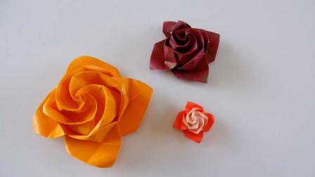 手工纸艺教程,用这个方法制作玫瑰花,不仅简单还很漂亮!