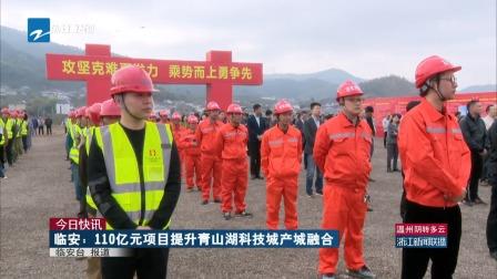 浙江新闻联播 2019 今日快讯:临安——110亿元项目提升青山湖科技城产城融合