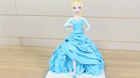 冰雪奇缘里的爱莎公主来了!没想到这么美丽的她是蛋糕做成的!