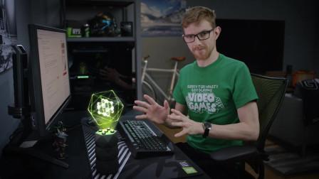 英伟达发布硬核AI游戏精灵R.O.N.,全息投影,游戏最佳拍档