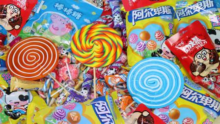 小猪佩奇棒棒糖零食大礼盒 巨款波板糖、拐杖糖和多款口味棒棒糖