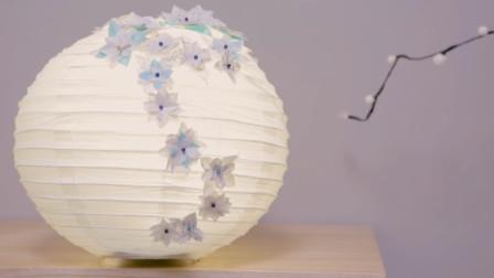 折纸折出的纸灯笼,挂在家里家的层次都不同了!