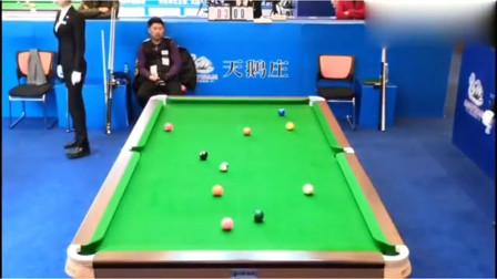 郑宇伯清台,不愧是世界台球冠军,从来就没有失误的时候!