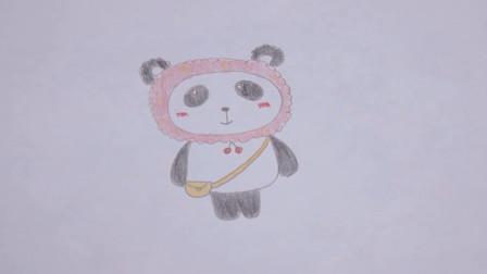 小美简笔画教程:今天教大家画一只可爱的国宝小熊猫,快来和小美姐姐一起画吧!