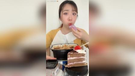 吃甜点啦, 蓝莓大福和黑森林蛋糕