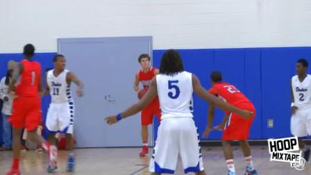 高中再现NBA巨星苗子!仅仅15岁的他完成跨人隔扣,全场欢呼!