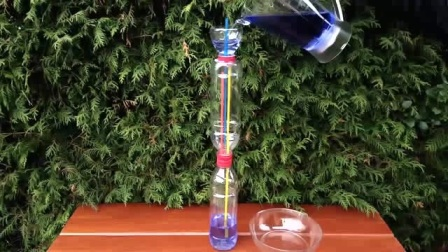 三个塑料瓶和几根吸管,就能制作一个喷泉,回家赶紧试一下
