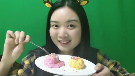 DIY创意手工制作,用棉花糖做冰淇淋,冰凉爽口,撒点糖豆更美味