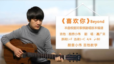 《喜欢你》Beyond 酷音小伟吉他弹唱教学