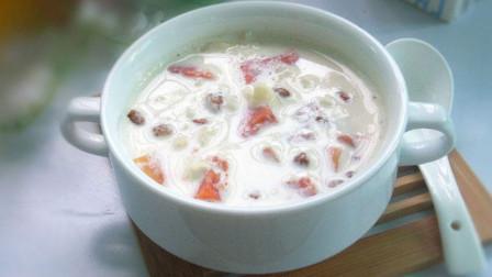 木瓜炖牛奶,蒸一蒸,又香又甜,营养美味,女人要常吃!