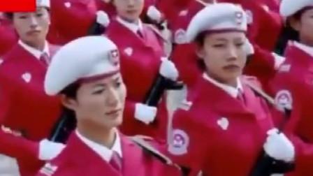 越南女兵和中国女兵阅兵式对比,解放军女兵正步出场,简直太惊艳