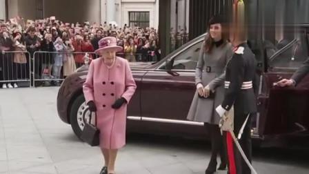 英女王带凯特王妃出席活动,王妃这身材真绝了,俩人都好有气质
