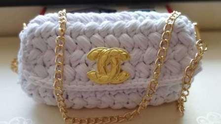 白羊材料包店手工DIY钩针毛线编织泫雅小香风布条包包小红署同款包包