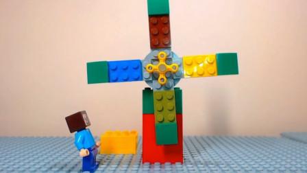 小玩偶搭建大建筑