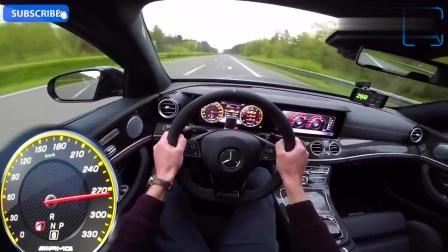 奔驰最强E级E63s AMG高速测试,3.4秒破百动力强悍呀