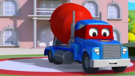 汽车总动员:卡尔变身红色水泥搅拌车