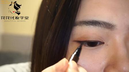 美妆教程之化妆师花花教你长眼线怎么画才会显得眉毛更好看