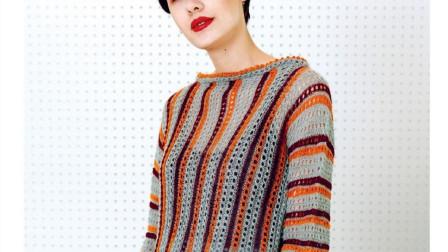 条纹镂空花样的编织方法,织法简单,不同颜色搭配会有不同效果方法视频