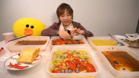 密子君吃了这么多份虾,难怪她不长胖,虾肉热量低蛋白质高