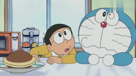 哆啦A梦:大雄和小叮当融合,为了吃一个铜锣烧,融合后太好笑了