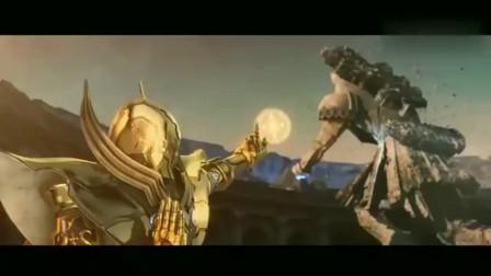 黄金圣斗士保护神域,巨型石像,场面炫酷
