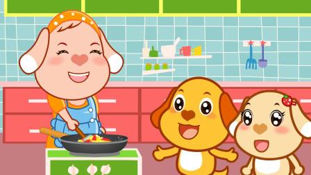 亲宝儿歌大全:包饺子和吃饭香喷喷
