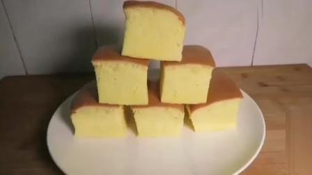 海绵蛋糕,原来做法这么简单,蓬松香甜,学会了就不用再进蛋糕店了