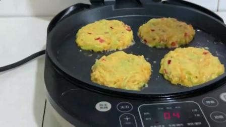 南瓜萝卜早餐饼的做法,粗粮细作,健康又营养,吃起来非常美味!