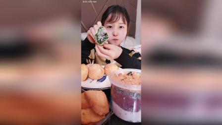 酥皮奶油泡芙 芋泥松花艾青团