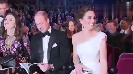 凯特王妃一袭白色连衣裙美若天仙!和威廉王子出席自由贸易宴会