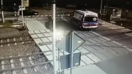 当道口栏杆放下时,留给救护车的时间开始倒计时!