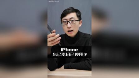 iphone苹果手机所有密码都忘记了应该怎么办?