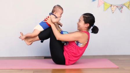 瑜伽视频教程初级 【婴儿瑜伽】EP2 安抚宝宝同时锻炼妈妈