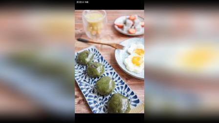 打卡 双酿流心青团(知味观), 煎蛋, 百香果香蕉菠萝汁