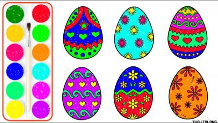 各式各样的复活节彩蛋绘画早教涂色 培养儿童想象力