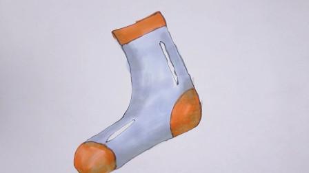 小柳简笔画教程:今天教大家画一个可爱的袜子,快来和小柳哥哥一起画吧