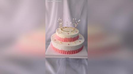 双层珍珠皇冠蛋糕! 粉粉哒!