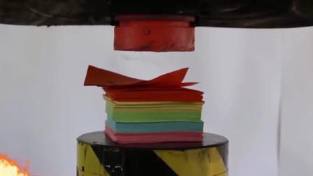 将1000张纸放在烧红的液压机下,启动开关,纸张会被压扁吗?