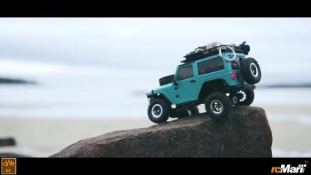 手掌大小遥控车 冬季海边探险