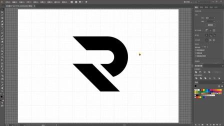AI字母logo设计